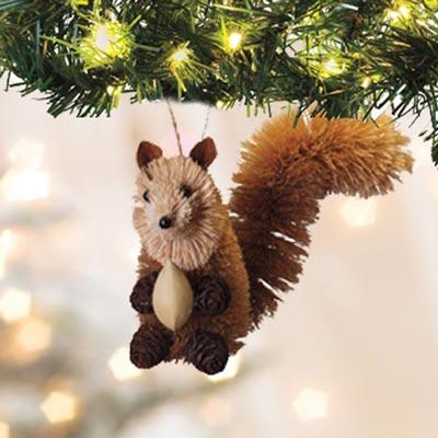 Buri Wildlife Ornament - Squirrel