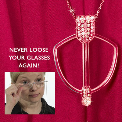 Incognito Reading Glasses Pendant Necklace