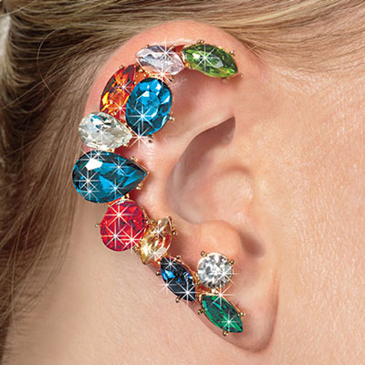 Blinged-Out Ear Cuff