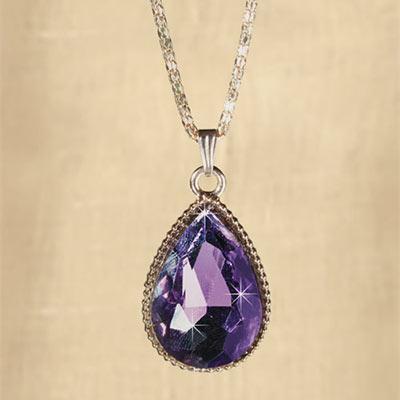 Purple Teardrop Necklace