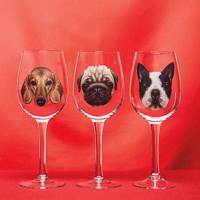 Dog Breed Wine Glass
