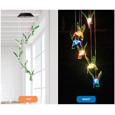 Solar Hummingbird Windchime