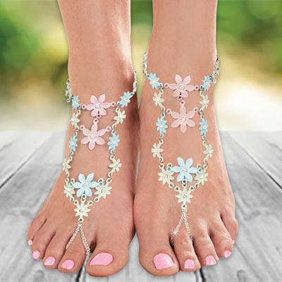 Flower Blossom Barefoot Sandal