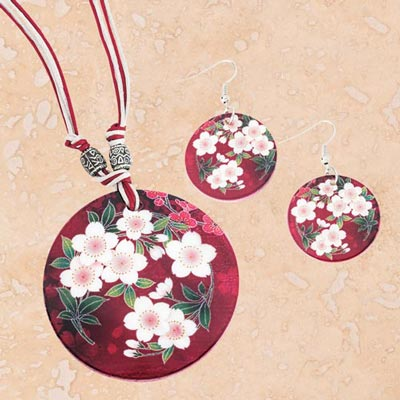 Cherry Blossom Shell Jewelry Set