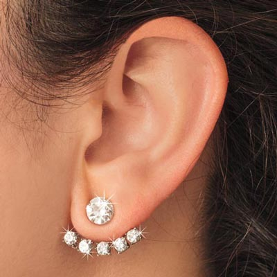 Sparkling Earrings with Jackets