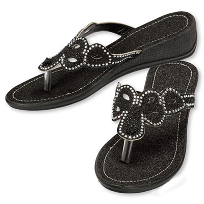 Blinged-Out Sandals