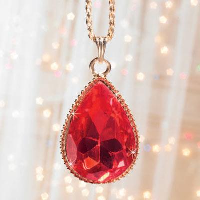 Crimson Teardrop Necklace