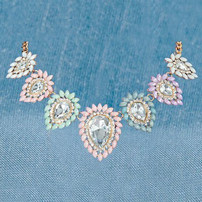 Pastel Marquise Necklace