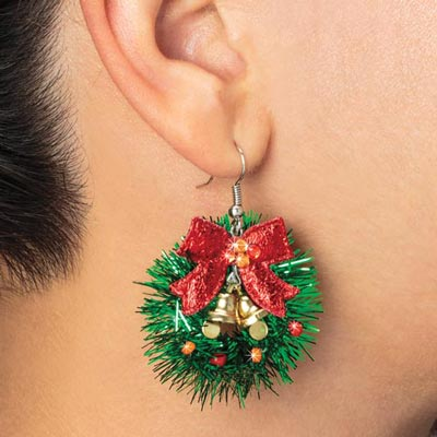 Christmas Wreath Earrings The Added Touch