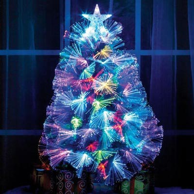 Tabletop Fibre Optic Christmas Tree
