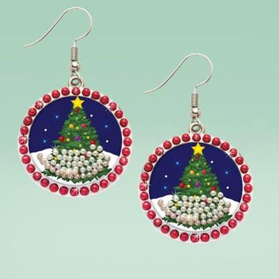 Snow Globe Earrings
