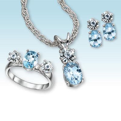 Blue Topaz Jewellery Set