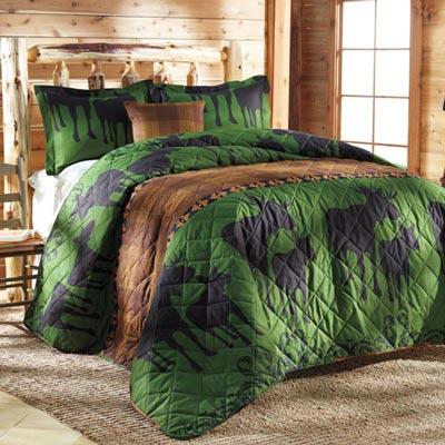 Moose Lodge Quilt Set
