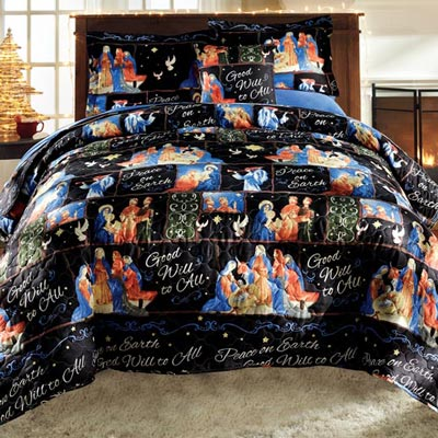 Peace on Earth Quilt Set & Accessory