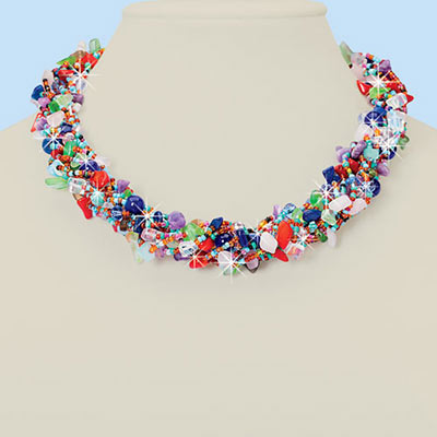Brilliant Beaded Necklace