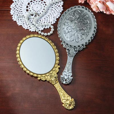 Victorian Hand Mirror In Silver Victorian Hand Mirror The Added Touch