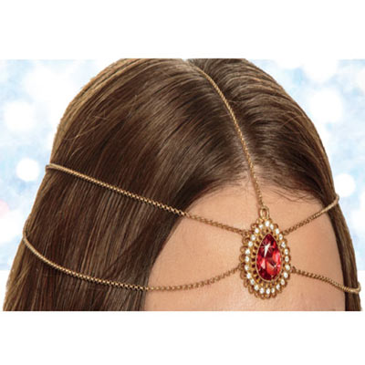 Ruby Teardrop Headpiece