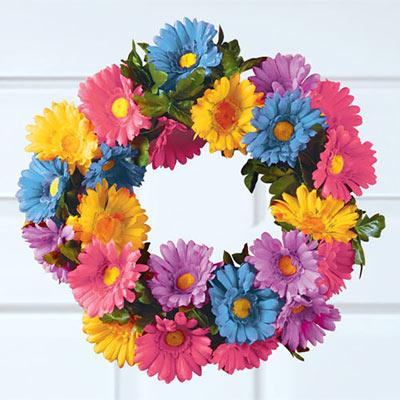 Pastel Daisy Wreath
