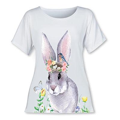 Watercolour Bunny Tee