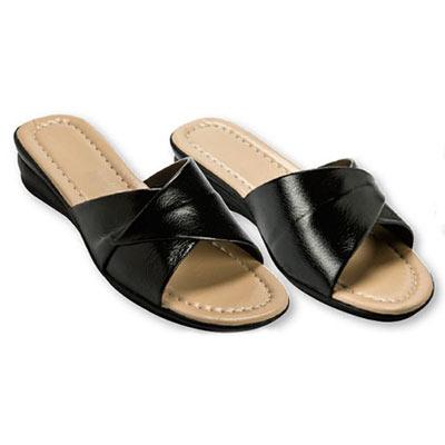 Black Crossover Sandals