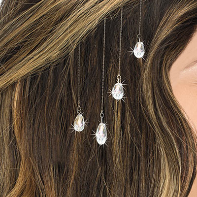 Crystal Dew Drops Hair Clips