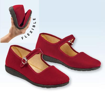 Red Velvet Mary Jane Shoes
