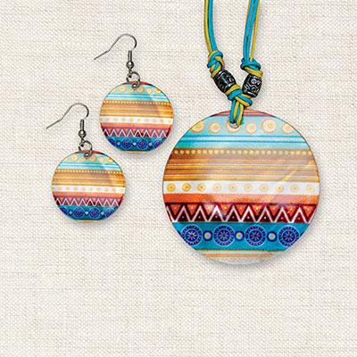 Artisan Aztec Shell Jewelry Set