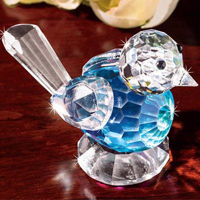Blushing Crystal Blue Bird