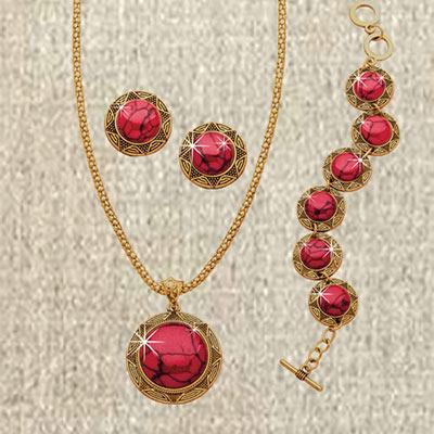 Carnelian Jewellery Set