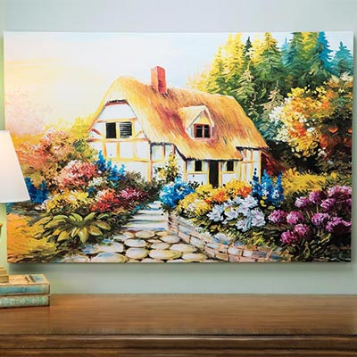 Country Cottage Canvas