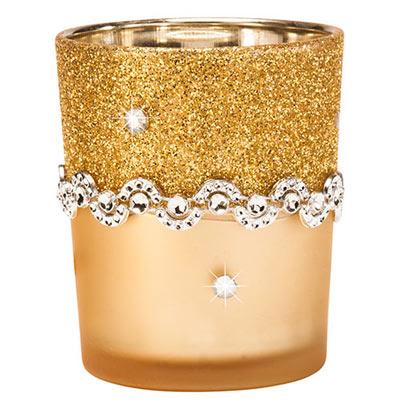Gold Glitter Votive- S/2
