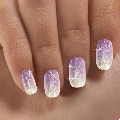 Shimmering Ombré Nails
