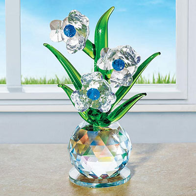 Crystal Blue Danube Flower