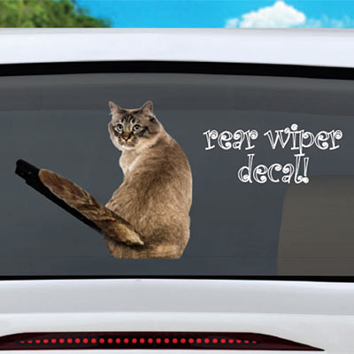 Tail Waving Kitty Decal