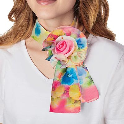 Brilliant Blooms Rosette Scarf