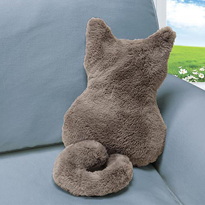 Bashful Kitty Pillow