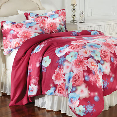Bright Floral Duvet Set
