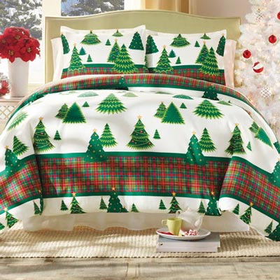 Holiday Trees Duvet Set
