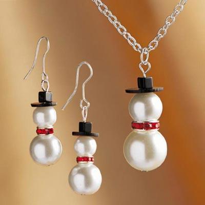 Snowman Bling Jewellery Set