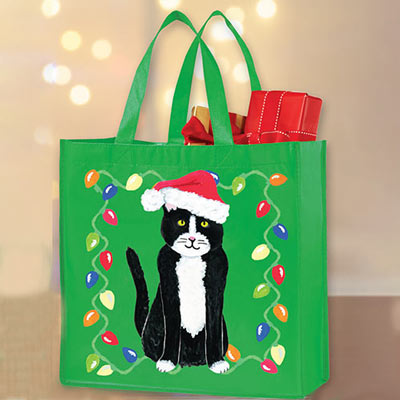 Meowy Christmas Cat Tote
