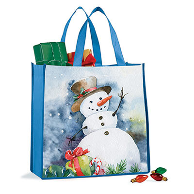 Holiday Snowman Tote