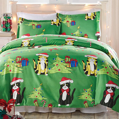 Meow-y Christmas Duvet Set