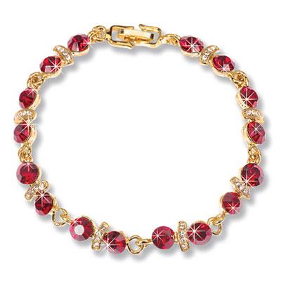 Faux Ruby Tennis Bracelet
