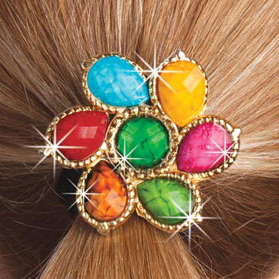 Colourful Medallion Scrunchie