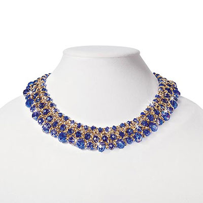 Shimmering Azure Necklace