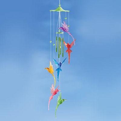 Colourful Songbird Wind Chime
