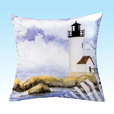 Seaside Harbor Pillow Cover