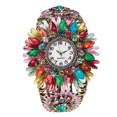 Dazzling Floral Watch