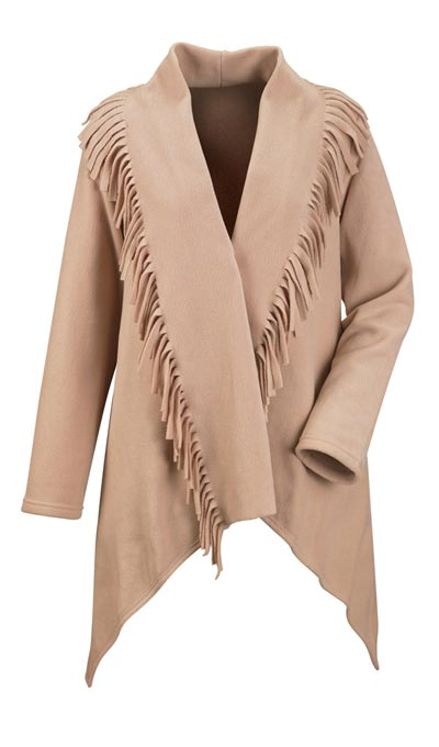 Fringe Fleece Jacket