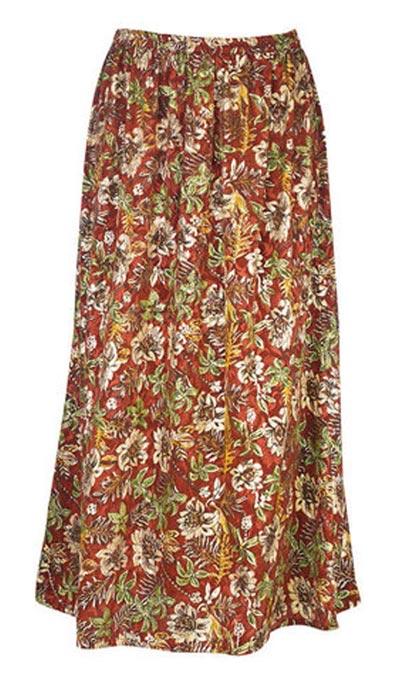 Floral Jacquard Foil Skirt